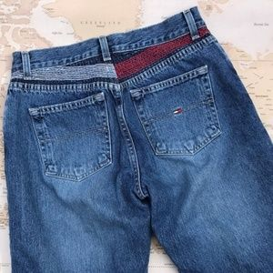 Vintage 90s Tommy Jeans Embroidered Back Size 4
